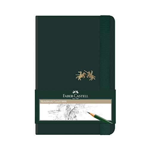 Caderno sem Pauta, Faber-Castell, Sketchbook Castell 9000, CDNSKT/PQ, 84 Folhas, Verde