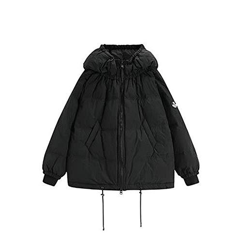 Caldo Black Da Giacca Tangmengyun Black Cappuccio color Traspirante Corto Tasca nero Invernale S Cotone In Antivento Piumino Con Dimensione RWRUzBqF
