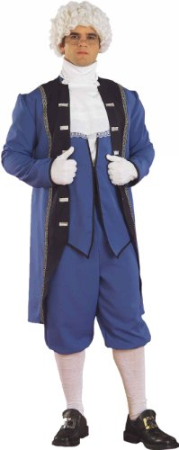 Forum Men'S Colonial American Complete Costume, Blue, Standard