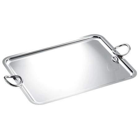 Christofle Vertigo Silver Plated Rectangular Tray with Handles #4200304 ()