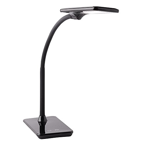 Newhouse Lighting NHDK-ZL-BK Zlata LED Desk Lamp with USB Charger, Touch Dimming and Color Change for Office Use, Black (Black Table Lamp Led)