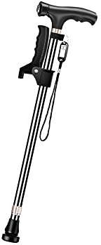 4点杖 折りたたみ松葉杖 伸縮式杖 杖 ステッキ 杖 4点杖 LEDライト 軽量 高さ調節可能 リハビリ 介護補助 歩行補助 アルミニウム合金
