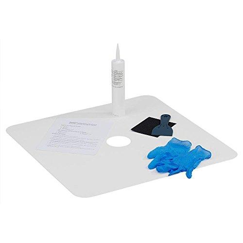 White Showerhead Kit - Tub/Shower Floor Repair Kit, 24 in W x 24 in L, White