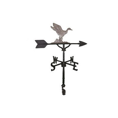 Montague Metal Products 32-Inch Weathervane with Swedish Iron Duck Ornament -