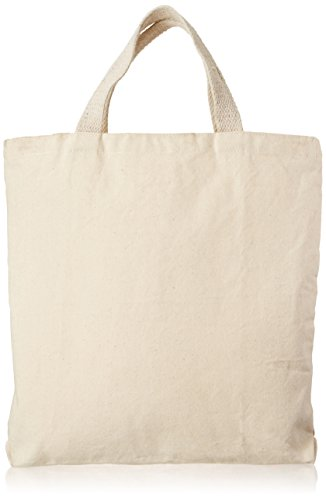 Mark Richards Medium Zipper Tote, 13.5 by 13.5 by 2-Inch, Natural
