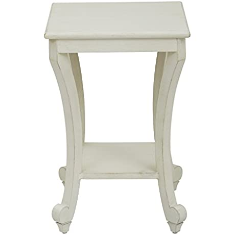 Office Star Daren Wood Pedestal Accent End Table Country Cottage Finish