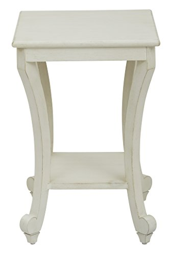Office Star Daren Wood Pedestal Accent End Table, Country Cottage Finish