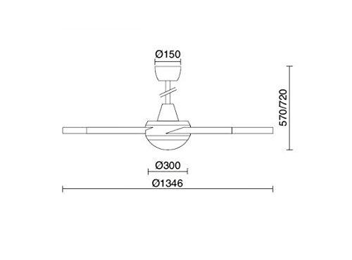 Ventilador de techo con luz LED MPC Vento cromo mpcshop ...