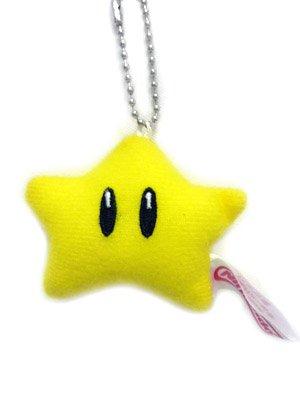 Mario Bro: 3inch Plush Keychain - Starman (Super Mario Mascot)
