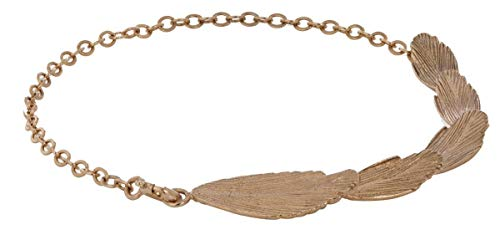 (Aurum by Gudbjorg Womens Raven Multi Feather Bracelet - Gold)