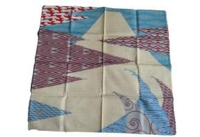 Furoshiki Japanese Traditional Wrapping Cloth Handkerchief Shantung Chief Interior ISA MONYO 50×50cm cotton100%.Made in Japan.(Mt.Fuji) from zakkaya JAPAN