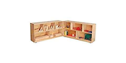 Kid's Play Folding Storage Unit in Maple finish (Small) - Wd Wood Finishes