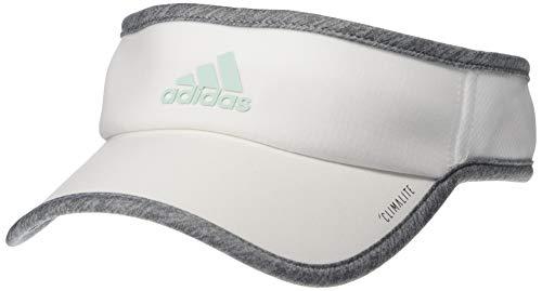 (adidas Women's SuperLite Visor, White/Light Heather Grey/Clear Mint, One Size)