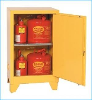 Eagle 1925LEGS Tower Flammable Safety Cabinet, 12 gallon, manual-latching door ()