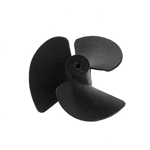 Bettal Black Plastic 3-Vane Propeller Paddle 40mm Diameter DIY RC Model Toy Marine Boat