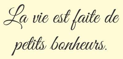 La Vie Est Se Realiza De Petits Bonheurs Frase En Francés