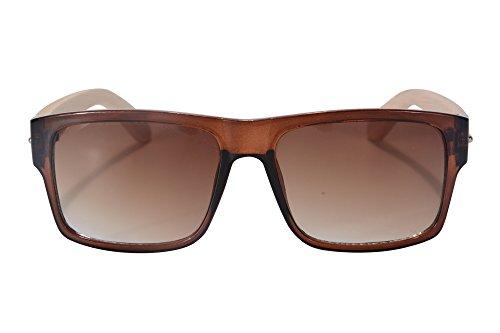 de de SHINU SH71012 Gafas Gafas hombres de Bambú los de Gafas Marco Sol de Modelo Brown Sol Brown Moda Sol de Sol Gradient Gafas de axraO