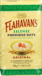 Flahavan's Irish Porridge Oats 500g Cereal (Pack of 2) - Organic Porridge Oats