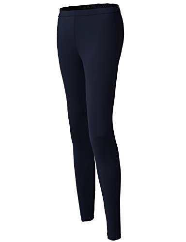 H2H SPORT Women's Skin Tights Compression Base Layer Running Leggings Pants NAVY US L/Asia XL (KWBLP016)