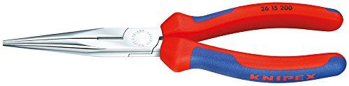 Knipex 26 12 200 Flachrundzange mit Schneide - Storchschnabelzange