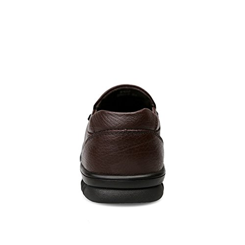 da hollywoodiano Brown Stile Cricket in Scarpe da Pelle Uomo Velvet Mocassini p0X4T