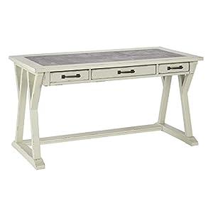 Signature Design by Ashley Jonileene Home Office Large Leg Desk White/Gray