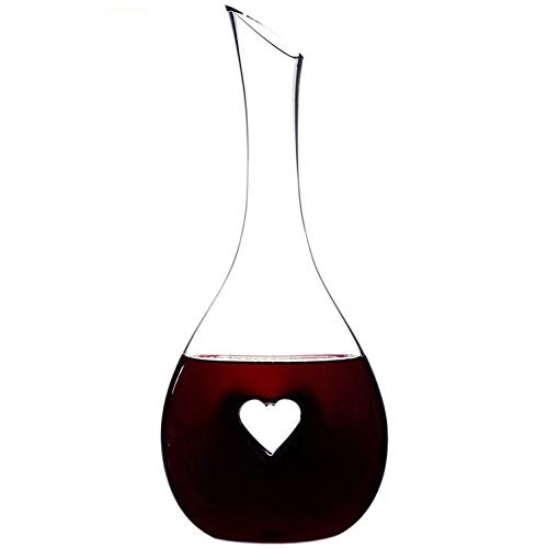 (Nines Sun Red Wine Decanter Red Wine Carafe Hand Blown Lead-Free Crystal Glass Wine Aerator Easy Pour Designed for Decanting Red Wines with a Capacity of)