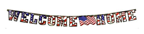 Faerynicethings American Heroes Party - 1 Heroes Welcome Home Banner 1 Pack - Party Supplies
