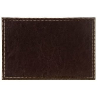 Charmant WIN WARE Faux Leather Placemats / Dinnermats / Tablemats Colour: Brown.  Dimensions: