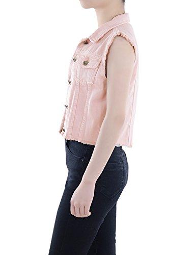 Donna Giacca Matita kaci Senza Maniche Pink Basic Anna YqzWT5a