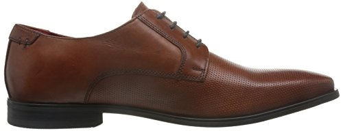Base London Mens Charles Waxy Leather Smart Casual Derby Shoes Tan