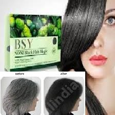 2 x 20g. BSY NONI BLACK HAIR COLOR Organic Natural Hair Dye (Black) Covers Grey Hairs (No PPD para-phenylenediamin...