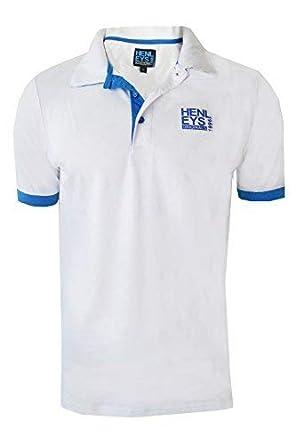 Henleys Mens Designer Polo Shirt Casual Collared Pique Top Short Sleeved T  Shirt  Amazon.co.uk  Clothing 29fc67ebe