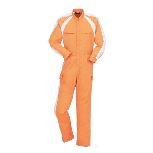 YAMATAKA(ヤマタカ)長袖つなぎ ツナギ おしゃれ涼しさと快適さ メッシュ春夏 yt-870 B008H1ZBWG 3L オレンジ