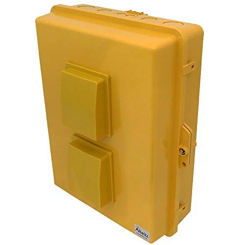 Altelix Vented Yellow NEMA Enclosure (14'' x 9'' x 4.5'' Inside Space) Polycarbonate + ABS Tamper Resistant Weatherproof by Altelix (Image #2)