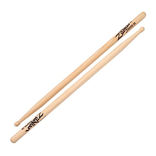 Zildjian S5BWN Super 5B Wood Natural Drumsticks (Drumsticks 5b Wood Natural)