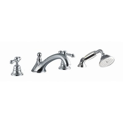 Thermostatic Deck Mount Faucet - Epoque Deck Mount Thermostatic Tub Faucet with Hand Shower Finish: Chrome
