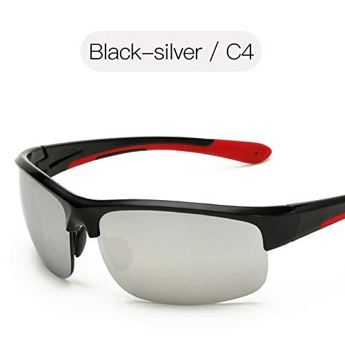 de de Lunettes Black sunglasses Lunettes Mode pêche Soleil de Mjia Sport Lunettes de Homme Couleur de silver équitation pour nbsp;Soleil Lunettes Plage Film Sport de WdPgv0g1q