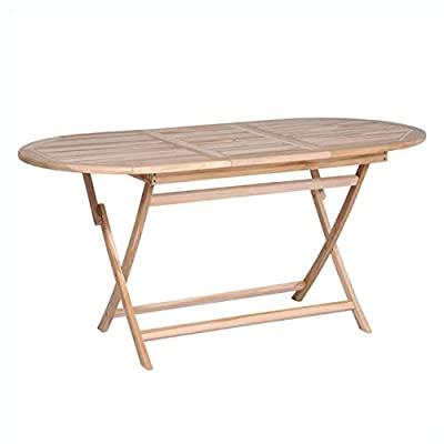 """HomyDelight Outdoor Table, Dining Table Solid Teak 63""""x31.5""""x29.5"""""""