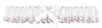 Hortense B. Hewitt Wedding Accessories Ribbon and Lace Garter, Ivory 73003