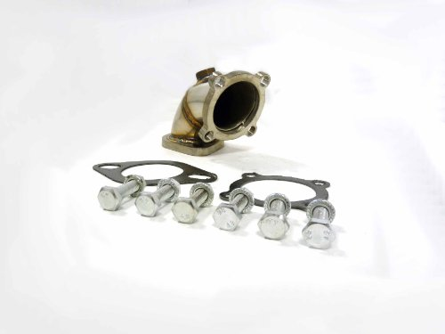 OBX Down Pipe 90-99 Eclipe Talon GST GSX Turbo Elbow Outlet T3 T4 1-O2 (Eclipse 97 98 Stock 99)