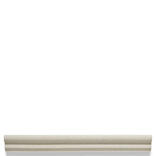 Waterworks Studio Stone Classic Chair Rail 1 3/8'' x 12 in White Limestone by Water Works (Image #1)
