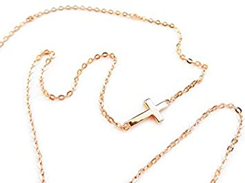 041afb6f2 Amazon.com: Small Sideways PETITE Cross Necklace .925 Sterling ...