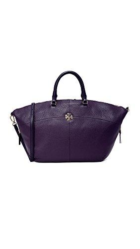 Tory Burch Ivy Slouchy Satchel Women's Handbag - Purple Tory Bag Burch