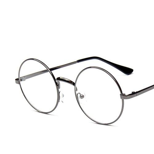 TINKSKY Cosplay Eyeglass Frame Fashion Eyegwear Accessory (Grey)]()