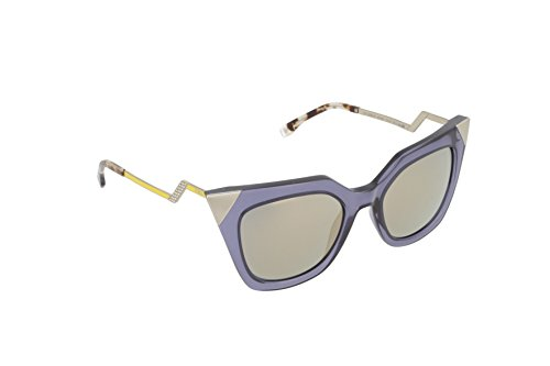 - Fendi Women's Iridia Corner Accent Sunglasses, Blue Grey Transparent/Bronze, One Size