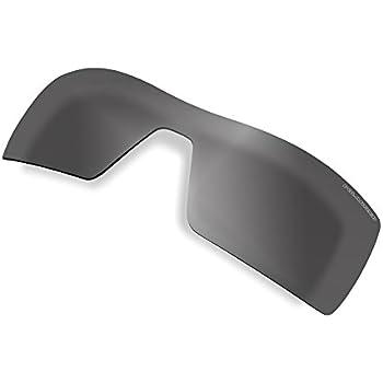 826d0de1cc BVANQ Polarized Lenses Replacement for Oakley Oil Rig Sunglasses (Black  Iridum Mirror Coatings .