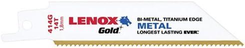 5 UNIDADES Lenox herramientas 21066414GR 10,16 cm 14 TPI titanio borde de corte para Metal hoja de sierra de vaiv/én
