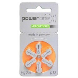 powerone Size 13 Hearing Aid Batteries Zinc Air P13 Pack of 60 (Zinc Air Hearing Aid)