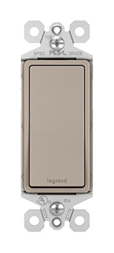 Legrand - Pass & Seymour radiant TM870NICC10 15A Single Pole Paddle Rocker Light Switch, Single Pole, Brushed Nickel Finish
